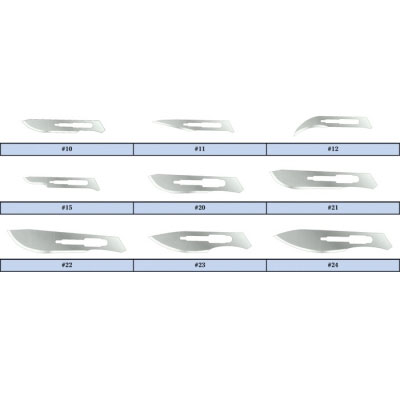 Conventional Sterile Stainless Steel Surgical Blades