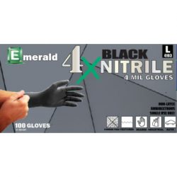 Emerald 4X Black Nitrile Gloves