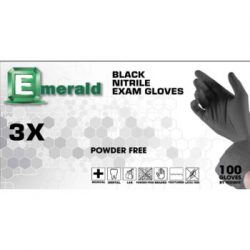 Emerald 3X Black Nitrile Exam Gloves