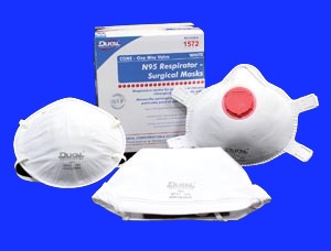 1571 Dukal N95 Respirator And Surgical Mask White Cone