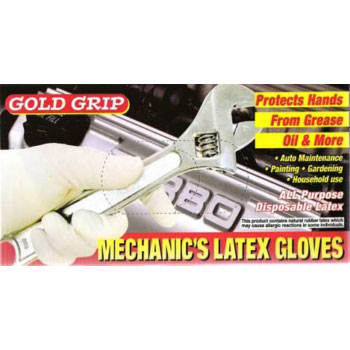 Gold Grip Powdered Latex Gloves