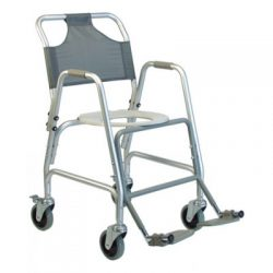 7915A-1 Deluxe Shower Transport Chair with Footrests