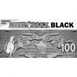 NitroMax Black Nitrile Exam Gloves