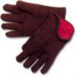 Lined Brown Jersey Gloves