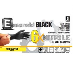 Emerald 6X Black Nitrile Exam Gloves