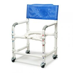 "89200-KD Lumex 22"" PVC Knock-Down Shower Commode Chair"