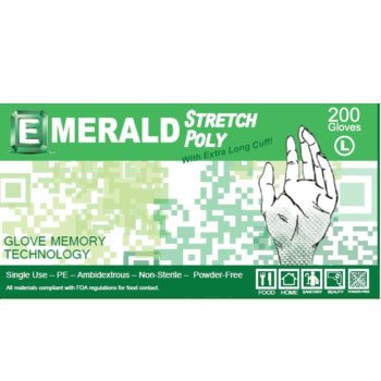 Emerald General-Purpose Stretch Poly Gloves