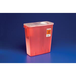 8527R Kendall 3 Gallon W/LID Sharp Container
