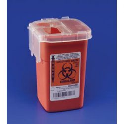8900SA Kendall Phlebotomy 1 QUART Sharps Container