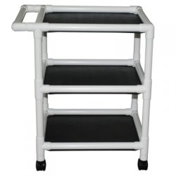 8520 PVC Three-Shelf Utility Cart