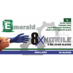 Emerald 8X Powder-Free Nitrile Exam Gloves