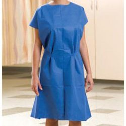 234 Graham Prof Non Woven Blue Exam Gown