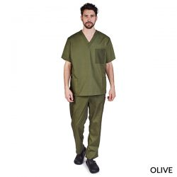 BP102 Unisex Cargo Solid V-Neck Scrub Sets
