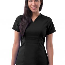 ADAR Pro Women's Tailored Peplum Scrub Top