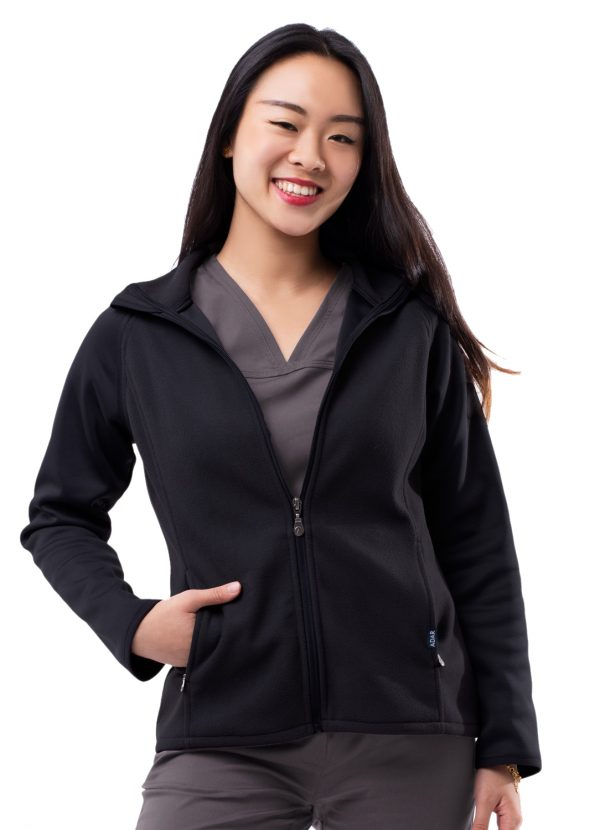 ADAR Pro Womens Performance Full Zip Bonded Fleece Jacket